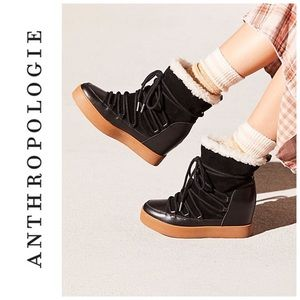 Anthropologie Shoe the Bear Trish Wool Wedge Boot